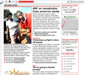 mail & gaurdian online - home page south africa\'s No one newspaper!